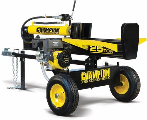 Champion 25-Ton Horizontal Vertical Full Beam Gas Log Splitter with Auto Return
